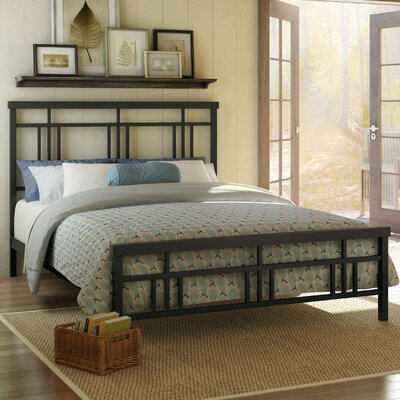 Cottage Platform Bed Finish: Textured Dark Brown, Size: Queen