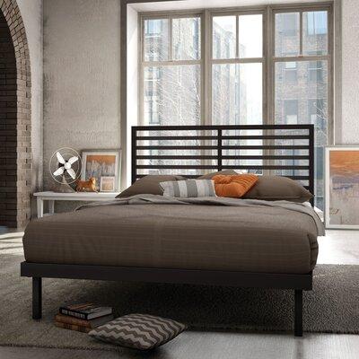 Theodore Platform Bed Size: Full, Finish: Textured Dark Brown