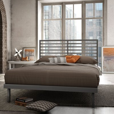 Theodore Platform Bed Finish: Glossy Grey, Size: Queen