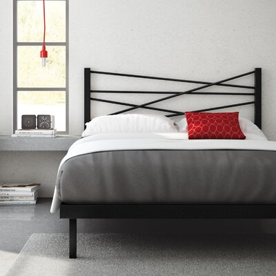 Crosston Platform Bed Finish: Textured Black, Size: Queen
