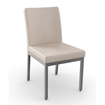 Penny Side Chair Finish: Glossy Grey metal /Beige
