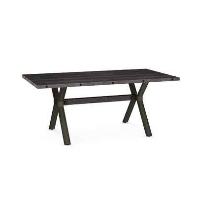 Nacomia Dining Table Base Color / Top Color : Semi-trans Metal/Dark Gray Wood