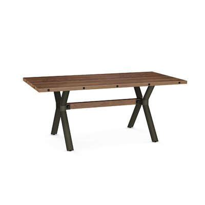 Nacomia Dining Table Base Color / Top Color : Semi-trans Metal/Brown Wood