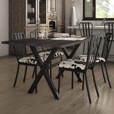 Raritan 5 Piece Dining Set Table Base Color: Black