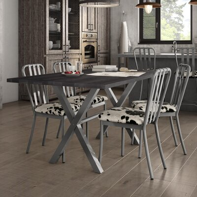 Raritan 5 Piece Dining Set Table Base Color: Gray