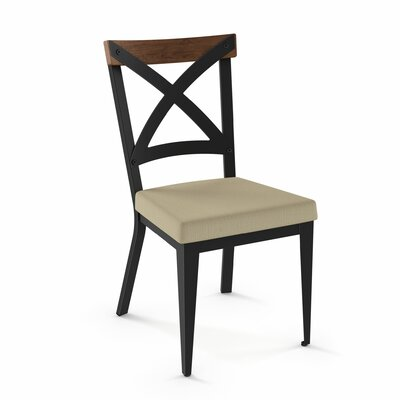 Esmund Solid Wood Dining Chair Color: Beige/Brown