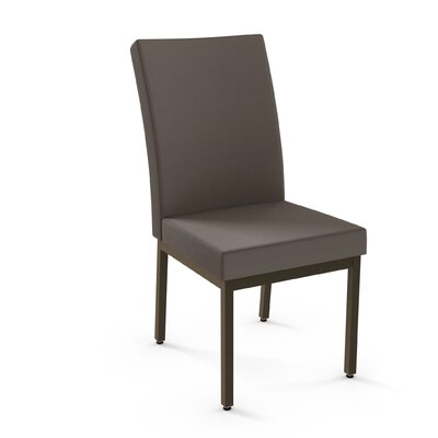 Shea Upholstered Dining Chair Finish: Brown/Gray