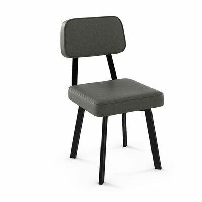 Cloran Upholstered Dining Chair Finish: Black/Gray