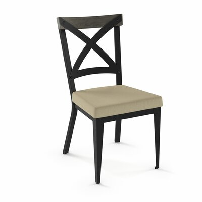 Esmund Solid Wood Dining Chair Color: Beige/Gray