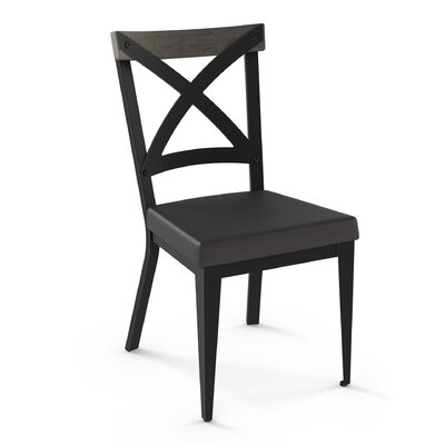 Esmund Solid Wood Dining Chair Color: Charcoal Black/Gray