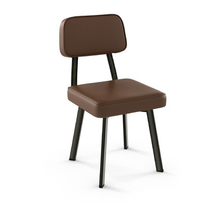 Cloran Upholstered Dining Chair Finish: Metal/Brown