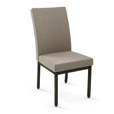 Shea Upholstered Dining Chair Finish: Metal/Beige