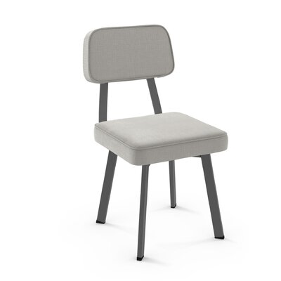 Cloran Upholstered Dining Chair Finish: Gray/Light Gray