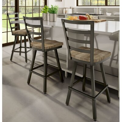 Gisselle 26 Bar Stool Finish: Beige/Black