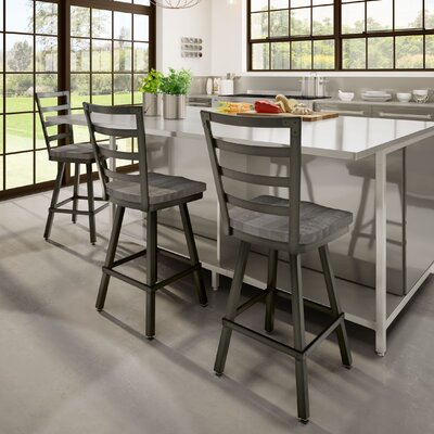 Gisselle 26 Bar Stool Finish: Black/Gray