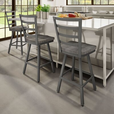 Gisselle 26 Bar Stool Finish: Gray