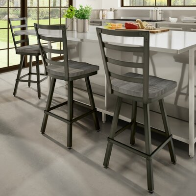 Gisselle 30 Bar Stool Finish: Black/Gray
