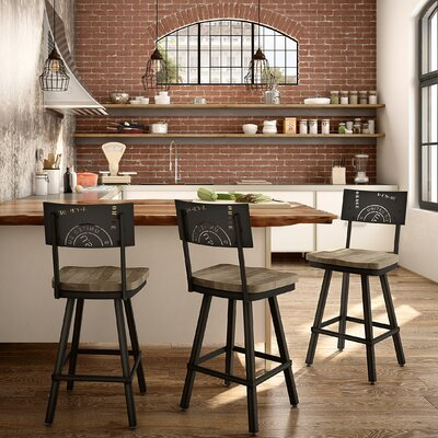 Harleigh 26 Bar Stool Finish: Beige/Black