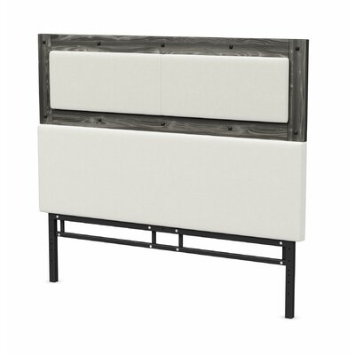 Ternes Foam Panel Headboard Size: Queen, Color: Gray Wood, Upholstery: White PU