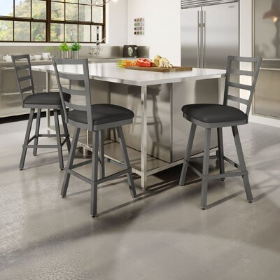 Jaimie 26 Bar Stool Finish: Gray/Charcoal Black