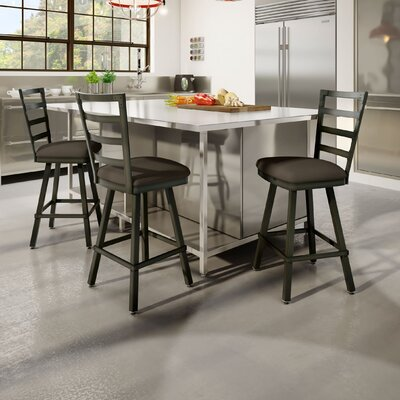 Jaimie 26 Bar Stool Finish: Brown Gray Poly