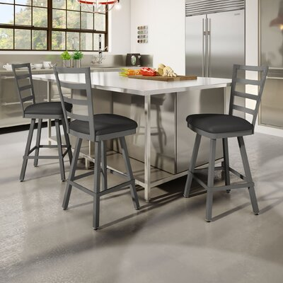 Jaimie 30 Bar Stool Finish: Gray/Charcoal Black