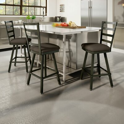 Jaimie 30 Bar Stool Finish: Brown Gray Poly