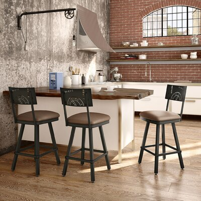 Haylee 26 Bar Stool Finish: Brown