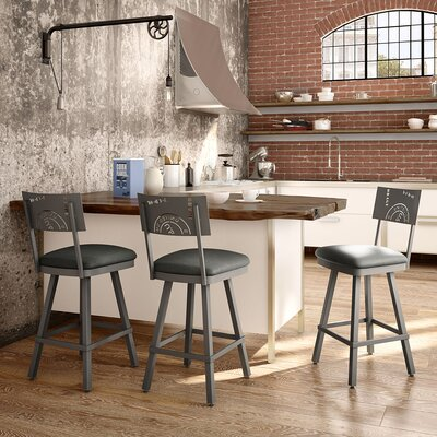 Haylee 26 Bar Stool Finish: Gray