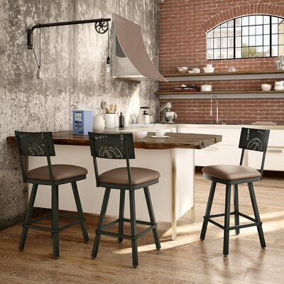 Haylee 30 Bar Stool Finish: Brown
