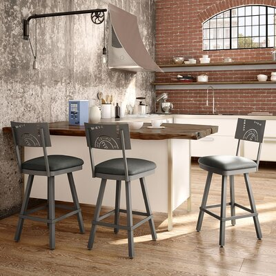 Haylee 30 Bar Stool Finish: Gray