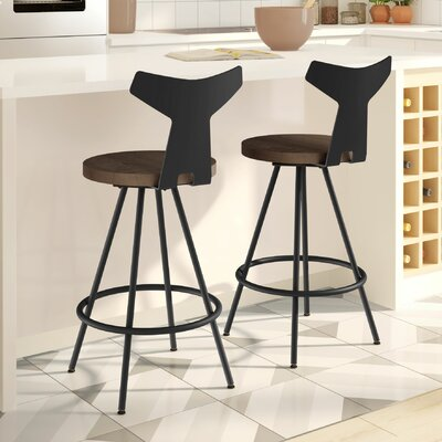 Avondale 30 Swivel Bar Stool Finish: Black/Brown