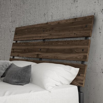 Amboy Panel Headboard Color: Gray, Size: Queen