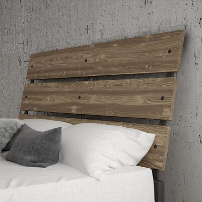 Amboy Panel Headboard Color: Beige, Size: Full