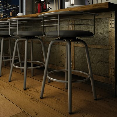 Ulrike 30.25 Bar Stool Color: Glossy Grey