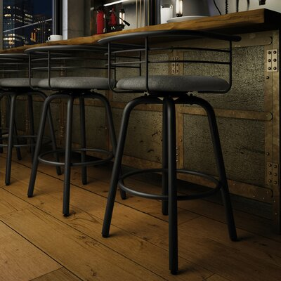 Ulrike 26.25 Bar Stool Color: Gray