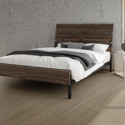 Amboy Panel Bed Color: Gray, Size: Queen