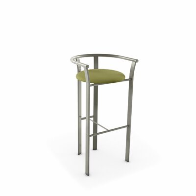 Eco Style 27 Bar Stool Upholstery: Green Fabric