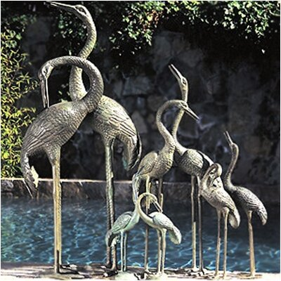 Image of Birds Metal Fountain Color: Verdigris, Size: Extra Extra Large