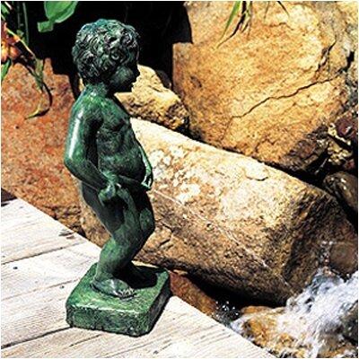 Image of Brass Belgian Boy Fountain