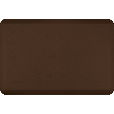 Motif Entwine Kitchen Mat Color: Brown, Rug Size: 2 x 3