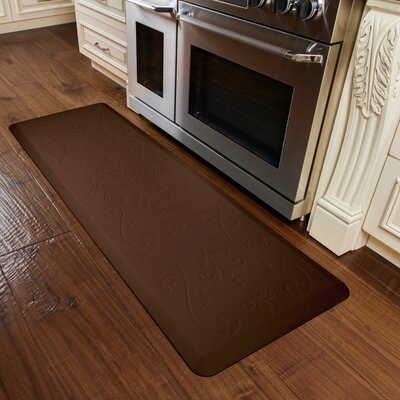 Kitchen Mat Color: Brown, Mat Size: Rectangle 2 x 6