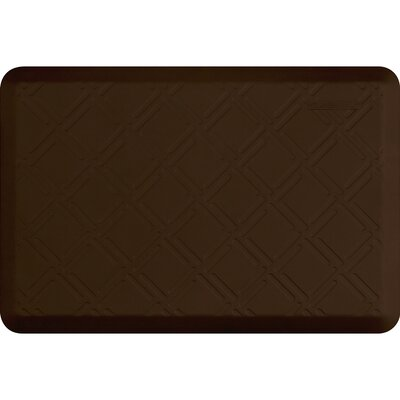 Motif Moire Kitchen Mat Color: Brown, Mat Size: Rectangle 2 x 3
