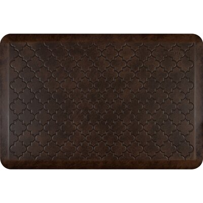 Motif Trellis Antique Kitchen Mat Color: Antique Dark, Rug Size: 2 x 3
