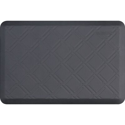 Motif Moire Kitchen Mat Color: Gray, Size: 2 x 3