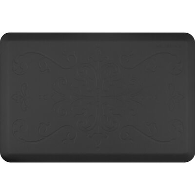 Motif Entwine Kitchen Mat Color: Black, Rug Size: 2 x 3