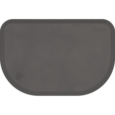 Pet Mat Color: Gray, Size: Small: (27 L x 18 W)