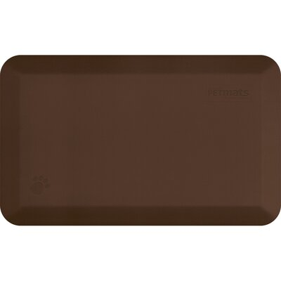 Pet Mat Color: Brown, Size: Medium: (34 L x 20 W)