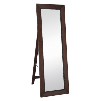 Classic Contemporary Rectangular Mahogany Full length Standing Floor Mirror