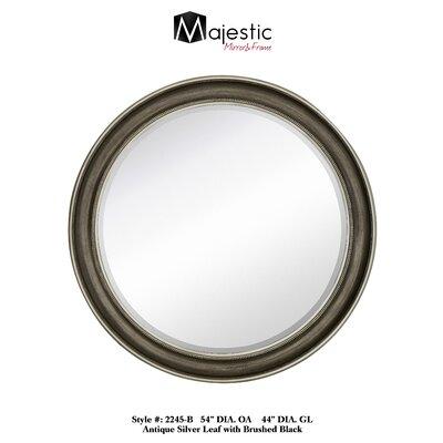 Smooth Round Stylish Beveled Glass Wall Mirror 2245-B